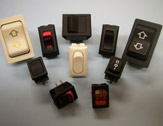 Marine vehicle buttons and switches